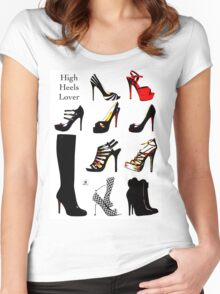 High Heels Lover Women's Fitted Scoop T-Shirt