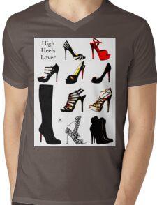 High Heels Lover Mens V-Neck T-Shirt
