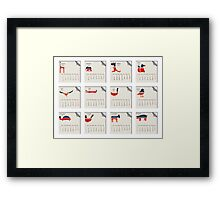 Animals calendar for 2011 Framed Print