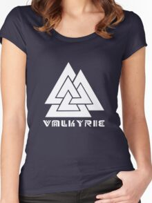 Valkyrie geek funny nerd Women's Fitted Scoop T-Shirt