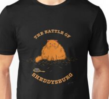 The Battle of Sheddysburg Cat Unisex T-Shirt