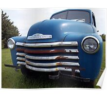 Old Chevy In Field Poster