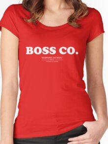 Boss Co. Women's Fitted Scoop T-Shirt