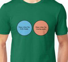 Venn diagram geek funny nerd Unisex T-Shirt
