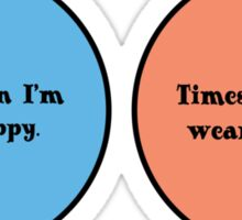 Venn diagram geek funny nerd Sticker