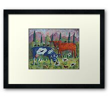 Happy Cows Framed Print