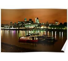 Thames & the City at Night Poster