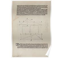 Measurement With Compass Line Leveling Albrecht Dürer or Durer 1525 0074 Repeating Shapes Poster