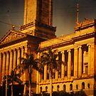 Brisbane City Hall 1954 by Soxy Fleming