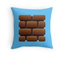 Mario stone Throw Pillow