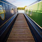 Canal Boats and Pontoon by Chris West