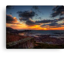 Sunset from the Wall of Fort Tourgis - Alderney Canvas Print
