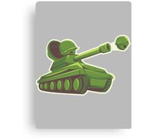 Peas and Tanks Canvas Print