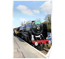 Steam Train in England Poster