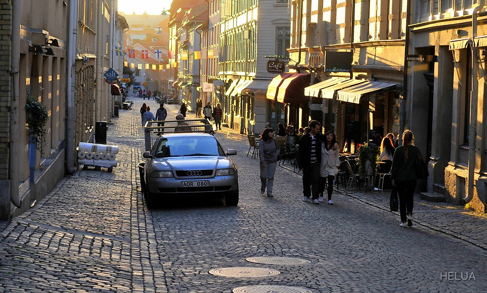 City Atmosphere Gothenburg Sweden by HELUA