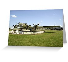 WW2 B17 Flying Fortress bomber plane Greeting Card