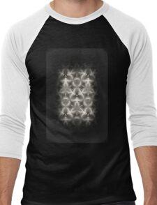 Abstract Grey Metallic Pattern Men's Baseball ¾ T-Shirt