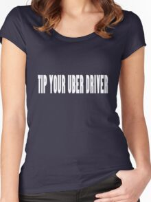 Wear it tip your uber driver uber cool geek funny nerd Women's Fitted Scoop T-Shirt