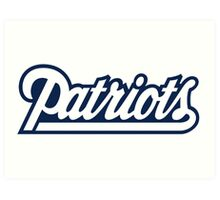 New England Patriots logo 3 Art Print