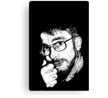 David, Portrait in Black and White Canvas Print