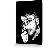 David, Portrait in Black and White Greeting Card