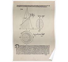 Measurement With Compass Line Leveling Albrecht Dürer or Durer 1525 0035 Ray Segmentation Poster