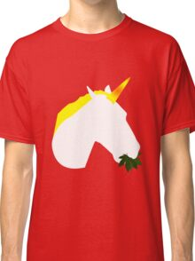 Weed eating unicorn geek funny nerd Classic T-Shirt