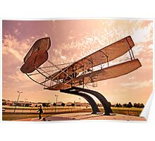 Replica of the Wright Flyer at Dayton Ohio Poster