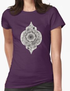 Messy Boho Floral in Charcoal and Cream  T-Shirt