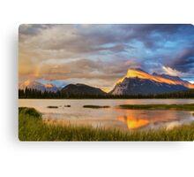 Vermillion Lakes, Banff, Canada Canvas Print
