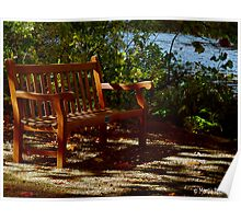 Tranquility on the Park Bench Poster
