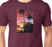 Surfboard sunset Unisex T-Shirt