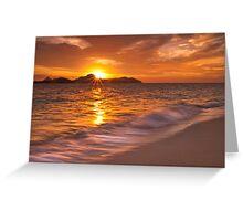 Texture like sun Greeting Card