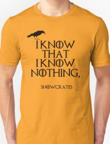 I know that I know nothing T-Shirt