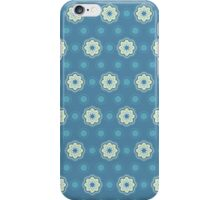 Pattern in circles, dot and flowers iPhone Case/Skin