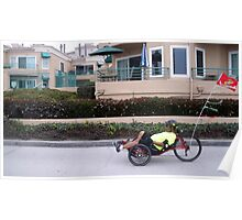 A funny three wheeled bike Poster