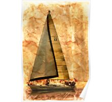 Setting Sail - Coastal - Textured Poster