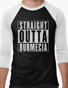 Burmecia Represent! Men's Baseball ¾ T-Shirt