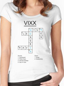 VIXX crossword puzzle design Women's Fitted Scoop T-Shirt