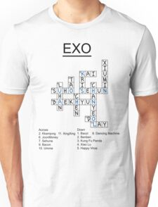 Exo Crossword Puzzle Unisex T-Shirt