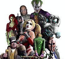 Arkham City Villains Collage by austygreen