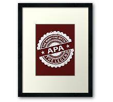Apa – The Man The Myth The Legend Framed Print