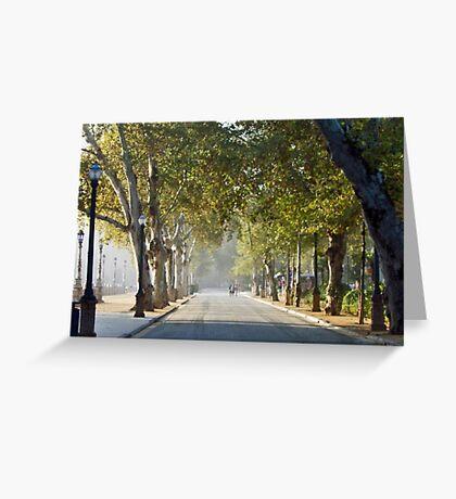 Misty Seville Morning Greeting Card