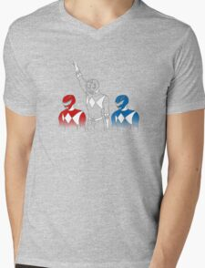 Black Power Ranger Mens V-Neck T-Shirt