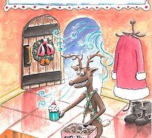 Rudolph the Brown-Nosed reindeer by weirdpuckett