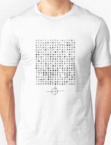 Zodiac letter Unisex T-Shirt