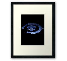 Oddball Halo Skull Framed Print