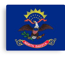 State Flags of the United States of America -  North Dakota Canvas Print