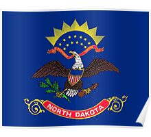 State Flags of the United States of America -  North Dakota Poster