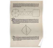 Measurement With Compass Line Leveling Albrecht Dürer or Durer 1525 0075 Repeating Shapes Poster
